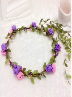 Plastic With Flower/Ribbon Flower Headband