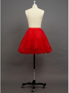 Women Organza/Polyester Short-length 2 Tiers Petticoats