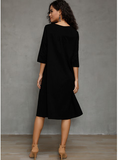 Polyester/Cotton Above Knee/Knee Length Dress