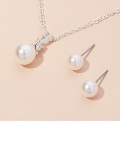 Elegant Imitation Pearls Ladies' Jewelry Sets