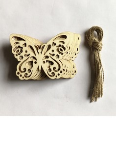 Butterfly Design/Nice/Beautiful Attractive Wooden Wedding Ornaments (set of 10)