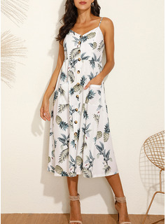 white cotton tea length dresses