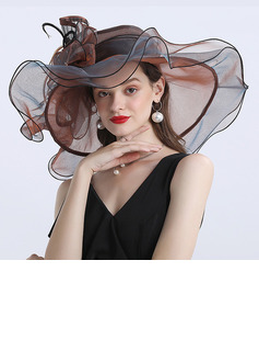 Ladies' Gorgeous/Classic/Elegant/Exquisite Organza With Tulle Floppy Hats