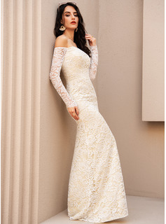 Trumpet/Mermaid Off-the-Shoulder Floor-Length Evening Dress