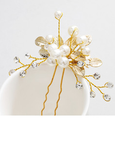 Ladies Stylish Alloy Hairpins With Venetian Pearl