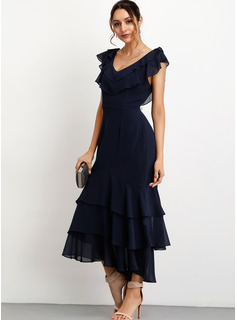 choker neckline cocktail dress