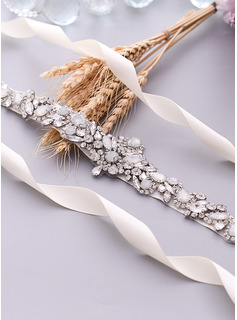 grey wedding dress sash