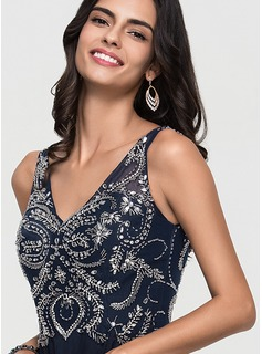 blue lace top evening dress