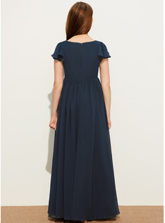 flowing chiffon tea length dress