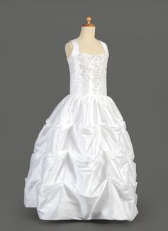 b4700e7dd Ball Gown Floor-length Flower Girl Dress - Taffeta Sleeveless Scoop ...