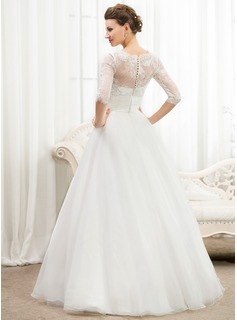 flower lace wedding dress