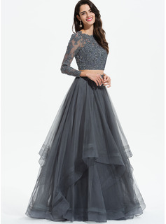 half sleeve long prom dresses