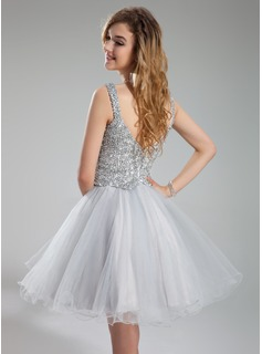 cheap champagne color prom dress