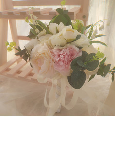 Classic Hand-tied Satin/Ribbon/Lace/Artificial Flower Bridal Bouquets/Bridesmaid Bouquets (Sold in a single piece) - Bridal Bouquets/Bridesmaid Bouquets