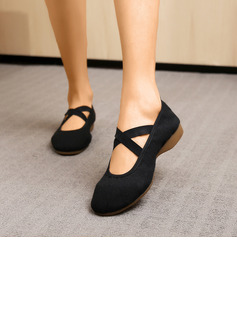 Women's Canvas Flats Modern Belly With Lace-up Dance Shoes