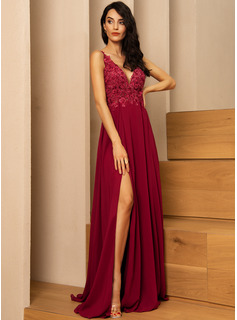 red prom dress high neckline