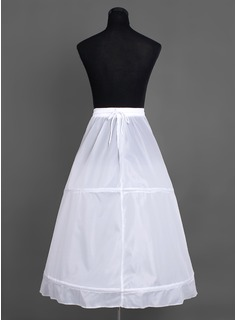 Women Nylon Tea-length 1 Tiers Petticoats