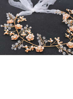 Ladies/Kids Beautiful Crystal/Rhinestone/Alloy/Imitation Pearls/Artificial Silk Headbands With Rhinestone/Pearl/Venetian Pearl/Crystal/Imitation Crystal (Sold in single piece)