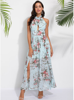 Halter Sleeveless Maxi Dresses