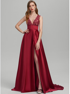 red strapless ball dress