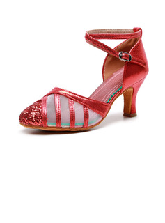 Women's Cloth Heels Ballroom With Hollow-out Dance Shoes