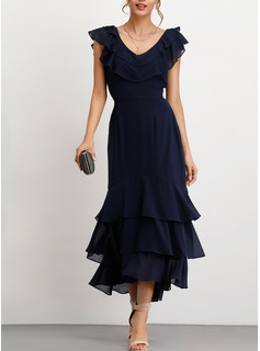 chiffon cocktail dresses for women