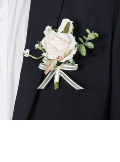 Bright Free-Form Satin Boutonniere (Sold in a single piece) -