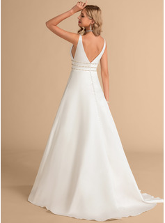 simple straight wedding dresses
