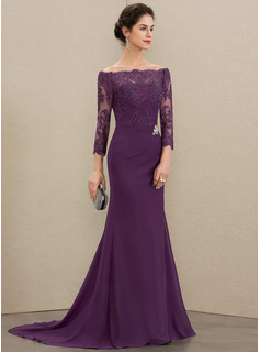 formal dress with long jacket