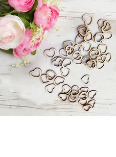 Heart Shaped/Heart Design Lovely/Elegant Hollow Rustic Small Wooden Hearts (50 Pieces)
