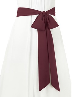 ivory dress with black sash