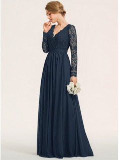 Chiffon Lace Bridesmaid Dress