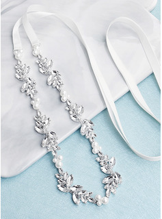Elegant/Unique/Stylish Satin Sash With Rhinestones/Imitation Pearls