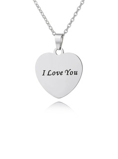 Custom Silver Heart Engraving/Engraved Color Printing Photo Necklace - Mother's Day Gifts