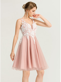 embroidered homecoming dress