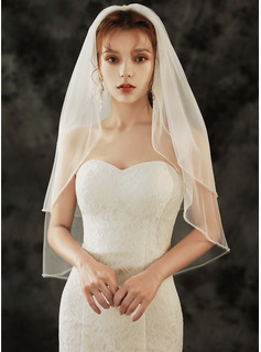 Two-tier Pencil Edge Elbow Bridal Veils