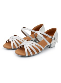 Women's Satin Latin With Buckle Dance Shoes