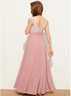 flower embroidered mesh maxi dress