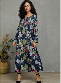 Cotton/Linen With Print Maxi Dress
