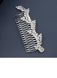 Ladies Beautiful Rhinestone Combs & Barrettes With Rhinestone/Cubic Zirconia (Sold in single piece)