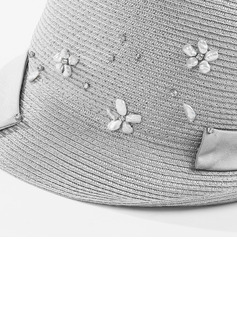 Ladies' Exquisite/Pretty Polyester With Rhinestone/Imitation Pearls Bowler/Cloche Hats