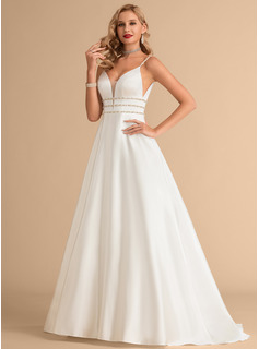 simple slimming wedding dresses