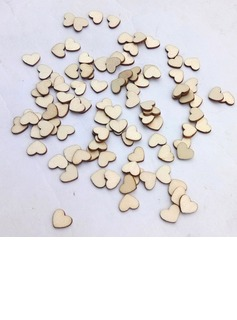 Heart Shaped/Heart Design Classic  Hollow Rustic Small Wooden Hearts (set of 100)