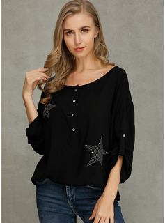 1/2 manches Polyester Col V Tricot Blouses