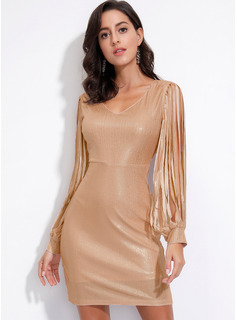Polyester With Sequins/Tassel Above Knee Dress