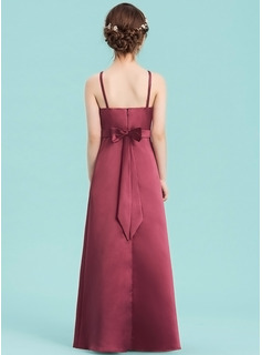 red satin slip dress long