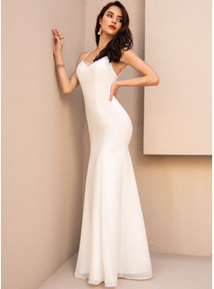 Trumpet/Mermaid V-neck Floor-Length Prom Dresses