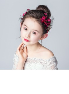 Alloy/Crystal With Flower Headbands (Set of 2 pieces)