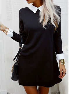 short sleeve collared shirt dress