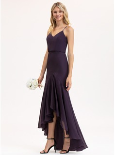 satin evening dress with split